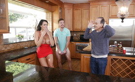 Step Mom and Son Caught In xxx Action in the Kitchen!