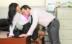 Busty MILF Boss in Sexy Stockings - Hot Office Sex Videos