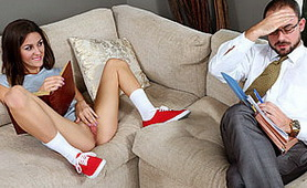 Naughty Schoolgirl Provokes a Private Teacher