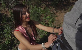 Hot Mexican Chick Gets Fucked Outside – Your Job Is To Suck!