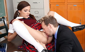 Bad Teacher is Not Withdraw in front of Young Fresh Sweet Tiny Pussy