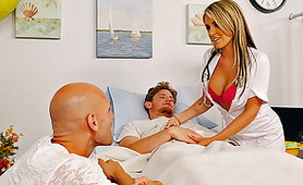 Hot Busty Nurse Wants to Fuck - Threesome Nurse Porn