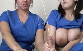 Crazy Nurses Makes Big Explosion Of Cum from Patient Balls