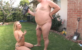 Fat Guy Try To Satisfy His Hot Wife - Outdoor Sex Videos