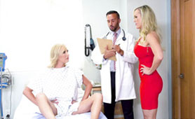 Lucky Doctor is Attacked by Two Busty Juicy Milf - Crazy Threesome XxxPorn