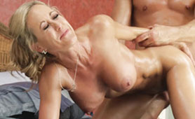Dick-Hungry Lubed MILF Hard Doggystyle