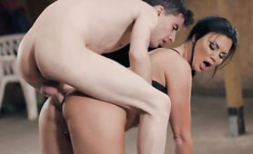 Because of Bad Behavior, Slim Young Boy Hard Punishes Lustful Mommy
