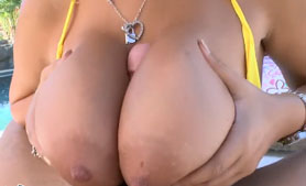 HOT Blonde Bridgette B Great Outdoor Titty Fuck & Pussy Fuck