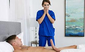 Guy Uses His Injury to Fuck All Nurses Around Him