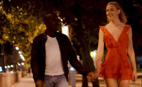 Small Guy Meets Hot Blonde and Fuck Her on First Date with His Huge Black Cock