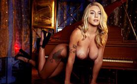 Unbelievable Sexy American Pornstar Gabbie Carter Has Great Solo by Piano