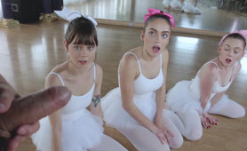 Barely 18 Years Old Ballerinas Practise with a Cock Inside Them