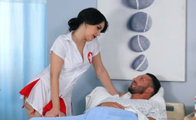 HOT Nurse takes Extra Care of her Patient with the Biggest Cock