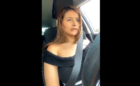 Horny Latina Taxi Driver Had a Great Moment and Share That with Us - Live Public XXX Masturbate