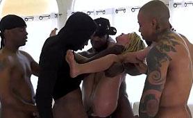 Slutty Youth on Poolside Party Gangbanged