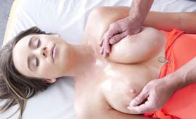 Busty Teen Has a Multiple Orgasms During Erotic Massage