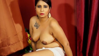 Busty Chubby Indian Slutty Wife Poses Naked