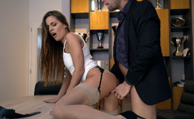 Hot Cheating Office Sex - Woried Wife Cant Find Her Man in the Office!