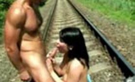Kinky Sex on Railway Track